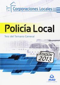 Policia local test del temario general 2013