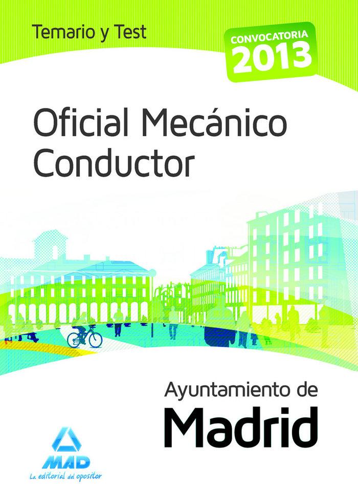 Oficial mecanico conducto temario y test madrid