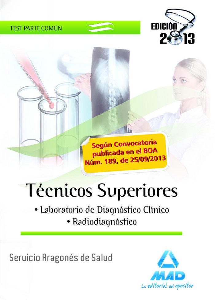 Tecnicos superiores servicio aragones salud test comun