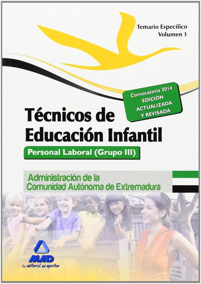 Tecnico educacion infantil i temario espe. extrema. 2014