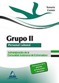 Temario comun grupo ii extremadura 2014
