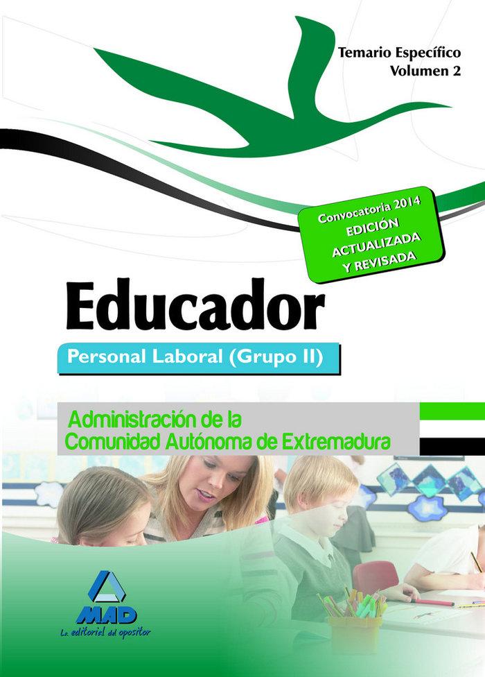 Educador vol.ii temario especifico 2014 extremadura grupo i