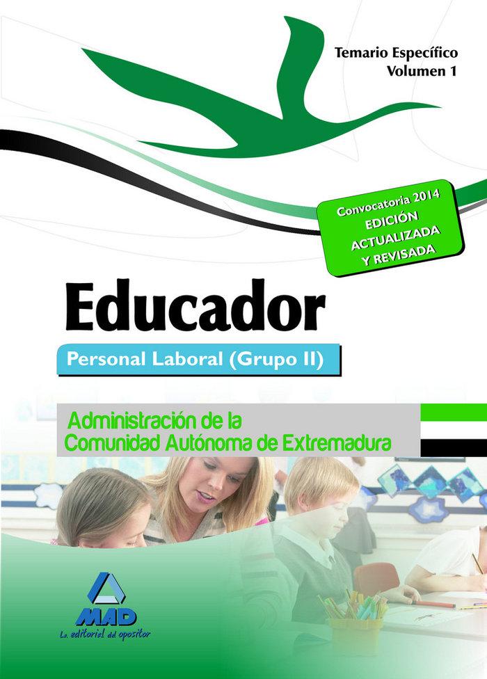 Educador vol.i temario especifico 2014 extremadura grupoii