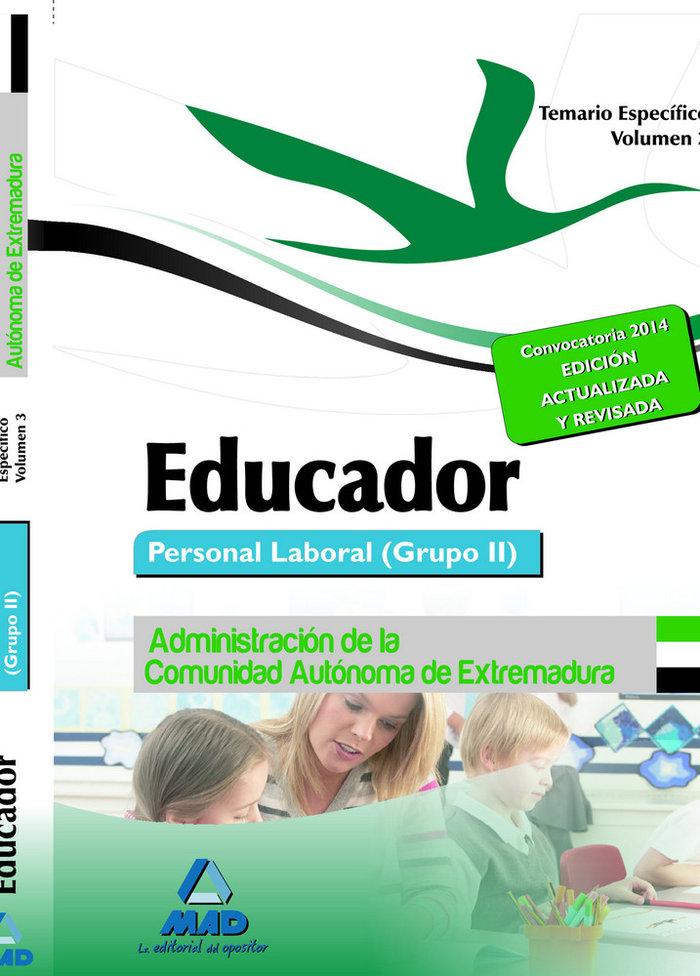 Educador vol.iii temario especifico 2014 extremadrua grupo