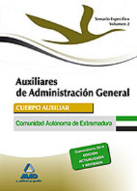 Auxiliar administracion extremadura ii temario especifico