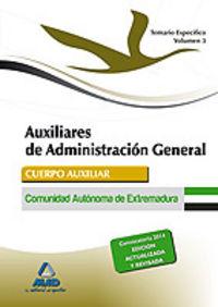 Auxiliar administracion extremadura iii temario especifico