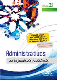 Administrativos j.andalucia t.libre ii temario ne