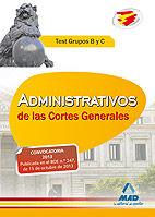 Administrativos cortes generales test grupos b y c