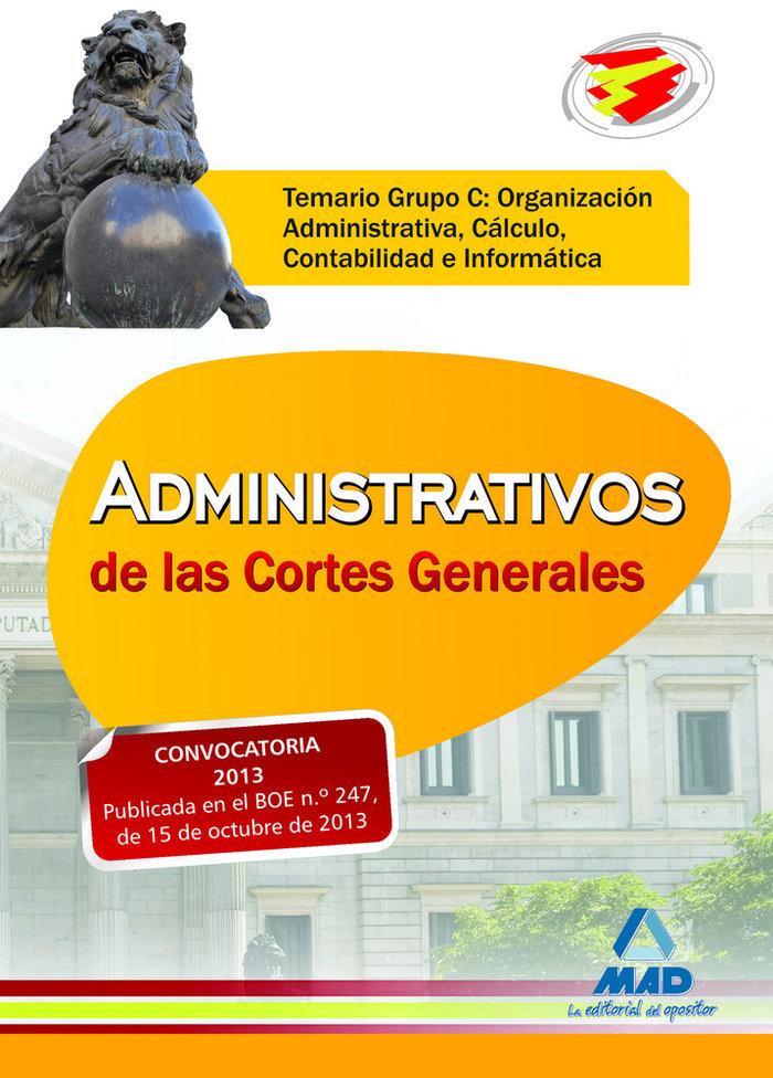 Administrativos cortes generales  temario grupo c organizac