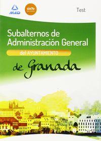 Subalternos ayuntamiento granada test ne