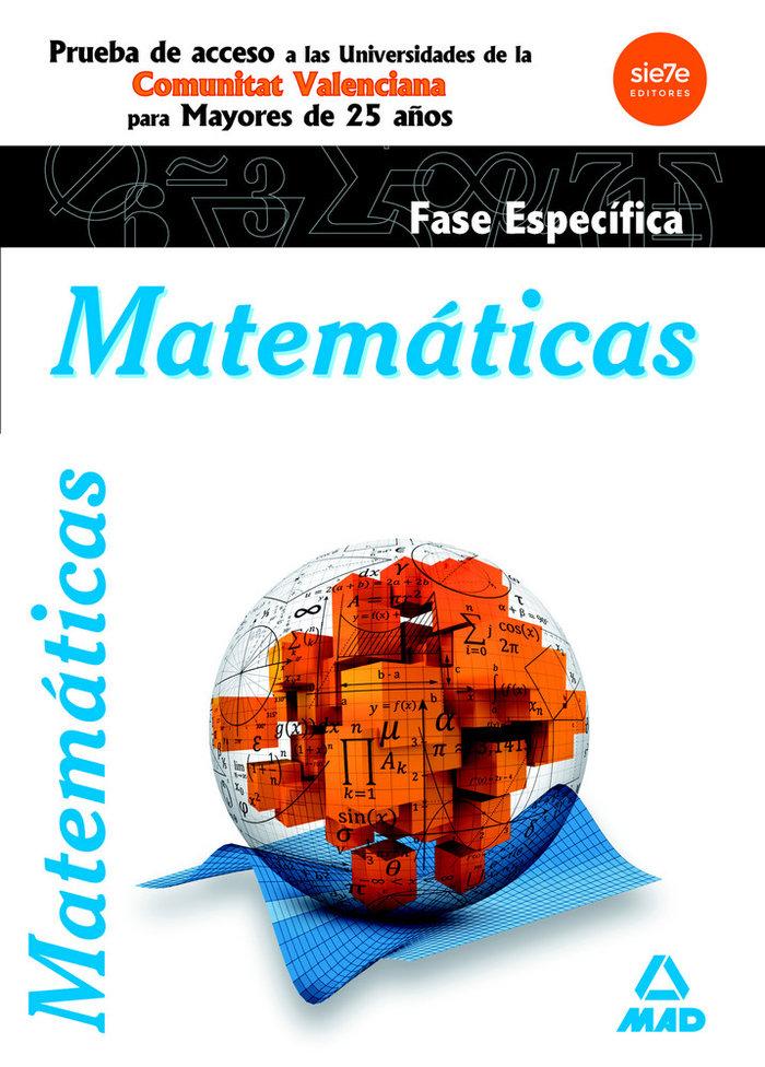 Matematicas acceso a la universidad mayores 25 años comunida