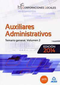 Auxiliares administrativos de corporaciones locales 2014 tem