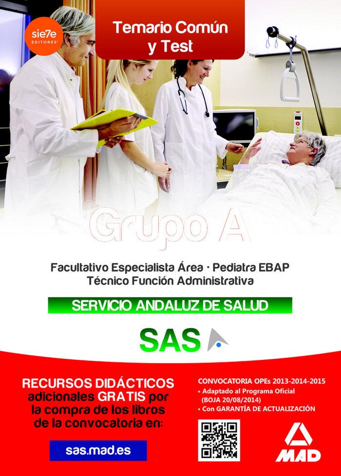 Grupo a del servicio andaluz de salud temario comun y test