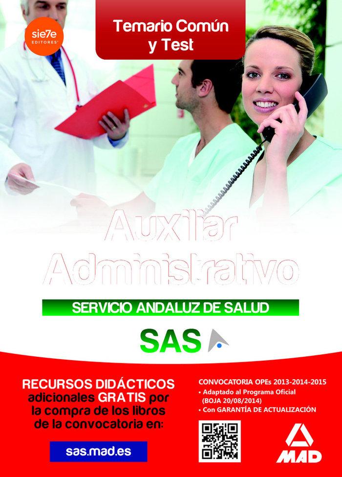 Temario comun y test auxiliar administrativo sas 2014