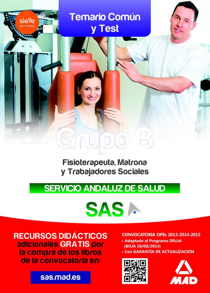 Grupo b del servicio andaluz de salud temario comun y test