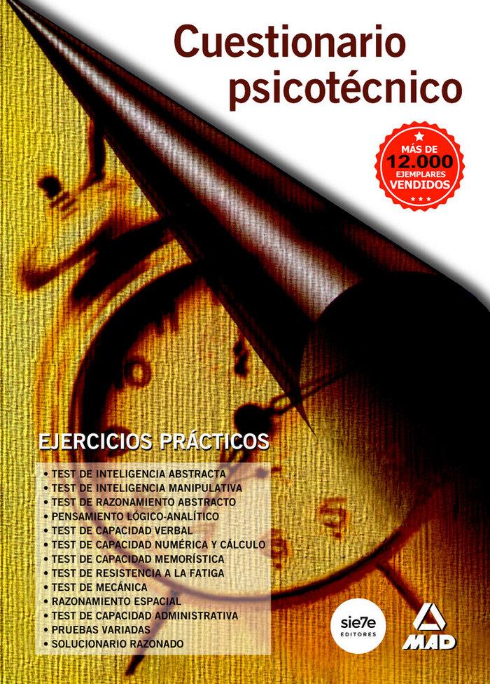 Cuestionario psicotecnico ejercicios practicos 3ªed