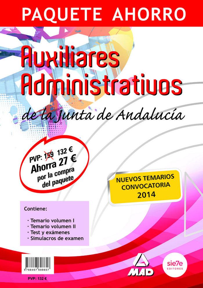 Paquete ahorro auxiliar administrativo junta de andalucia