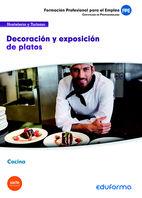 Uf0072 decoracion y exposicion de platos. certificado de pro