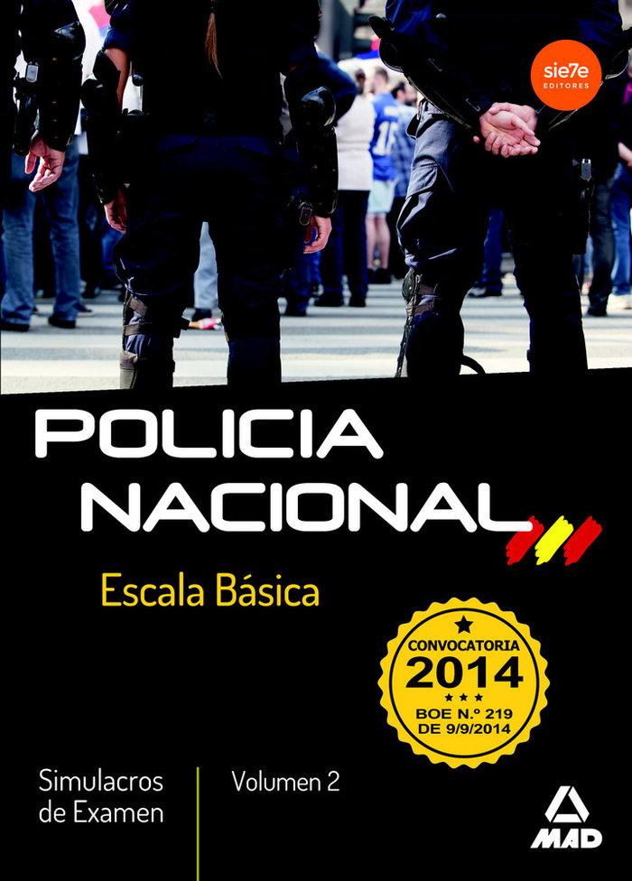 Policia nacional escala basica simulacros examen 2