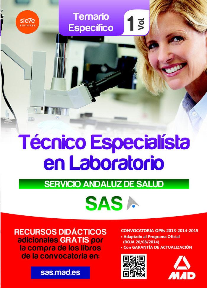 Tecnicos especialistas en laboratorio s.a.s.temario vol.i