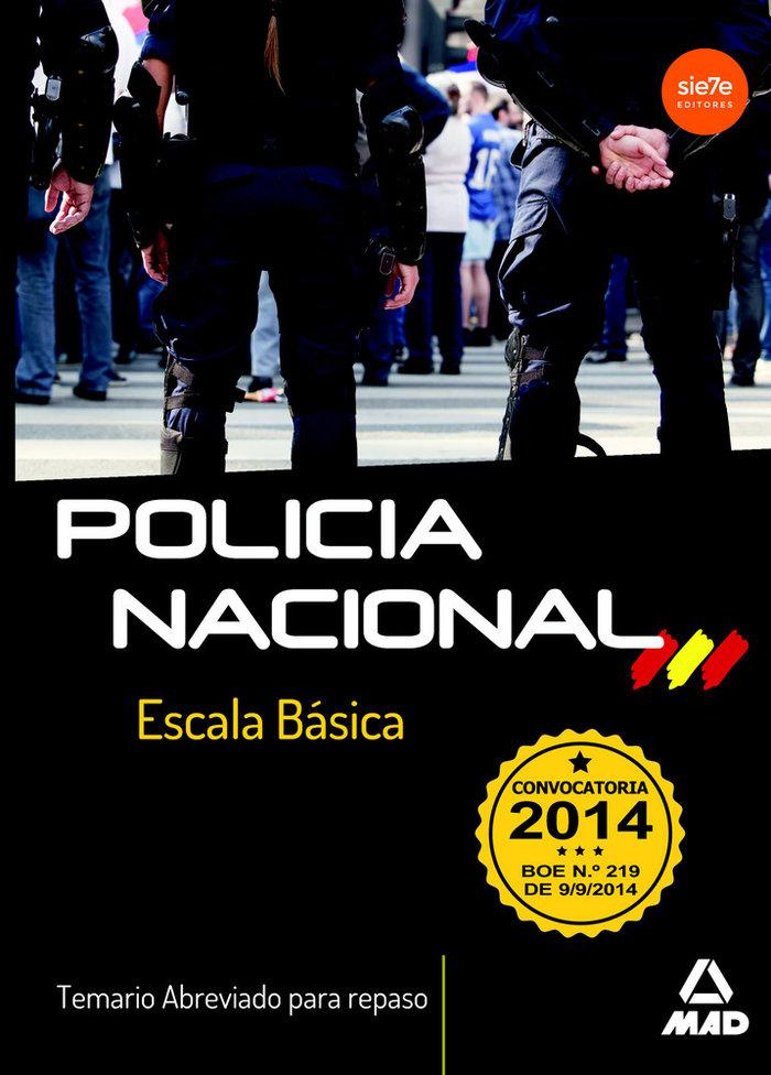 Escala basica policia nacional temario abreviado repaso