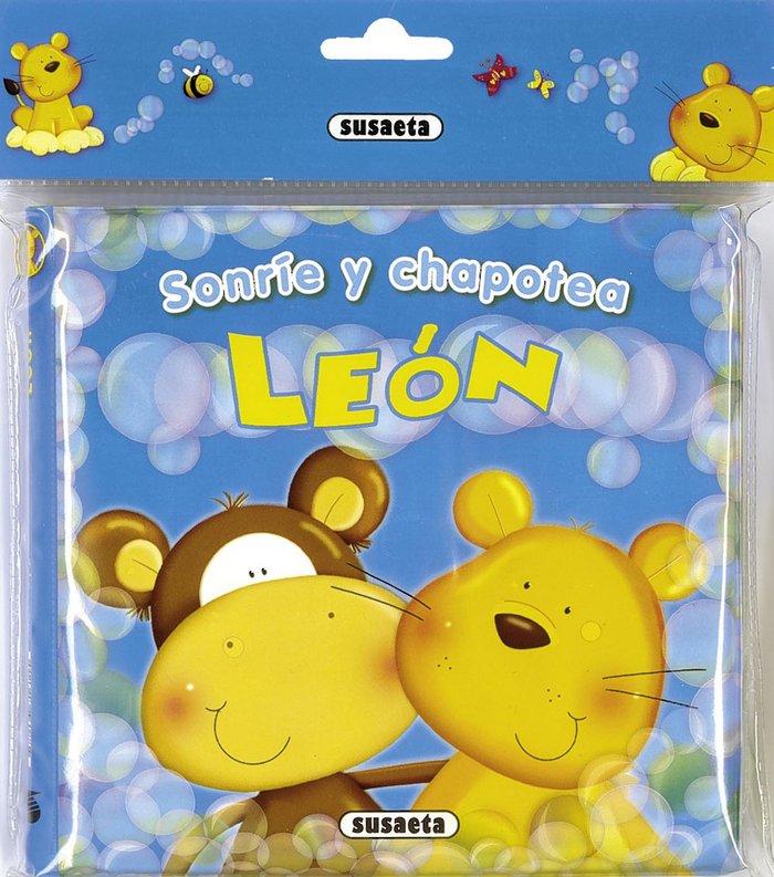 Leon libro baño