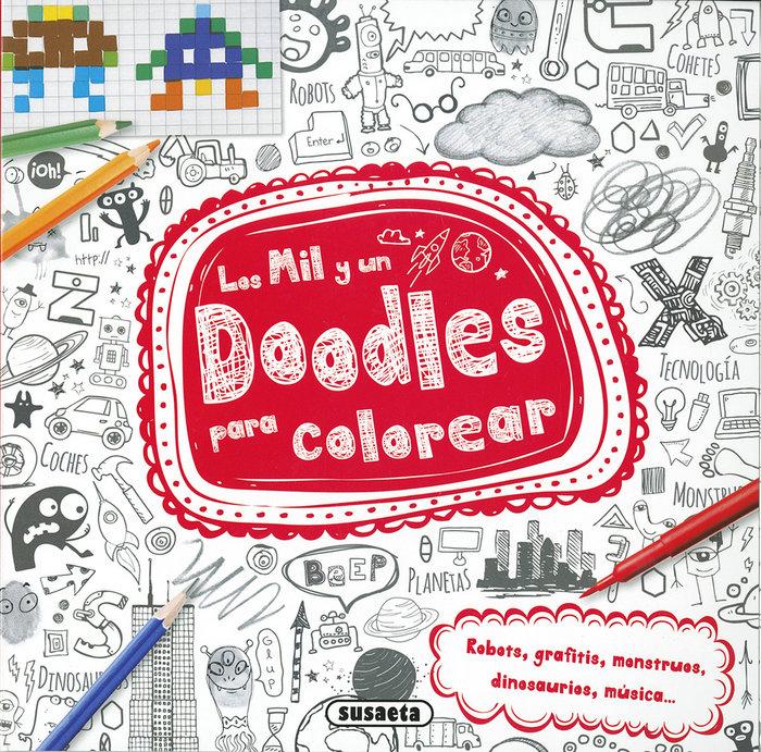 Mil y un doodles para colorear,los