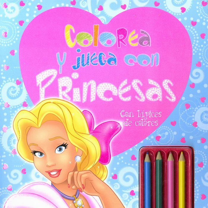 Colorea y juega con princesas con lapices de colores