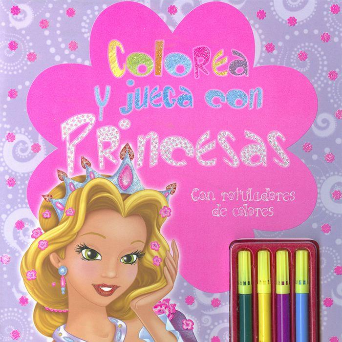 Colorea y juega con princesas con rotuladores de colores
