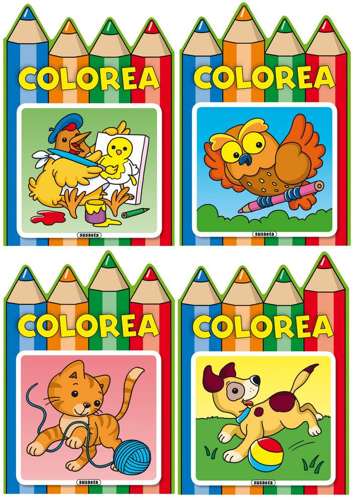 Colorea 4 titulos surtidos