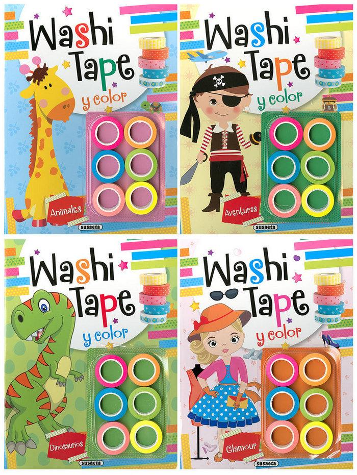 Washi tape 4 titulos