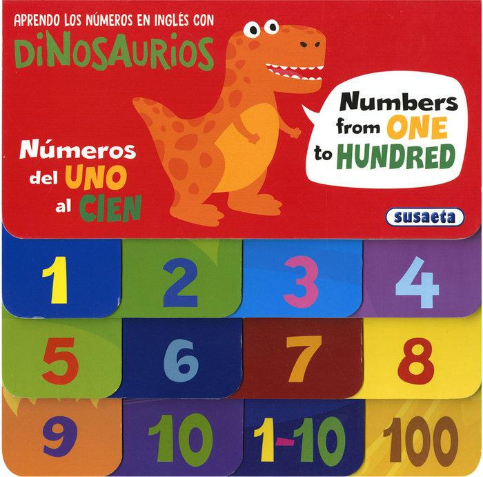 Aprendo los numeros en ingles con dinosaurios