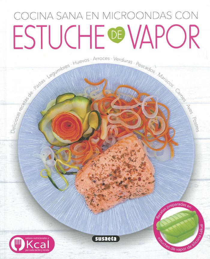 Cocina sana en microondas con estuche de vapor