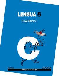 Cuaderno lengua 1 5ºep mec 14 aprender es crecer
