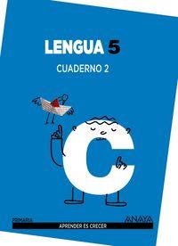 Cuaderno lengua 2 5ºep mec 14 aprender es crecer