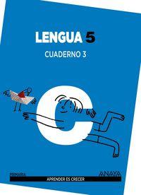 Cuaderno lengua 3 5ºep mec 14 aprender es crecer