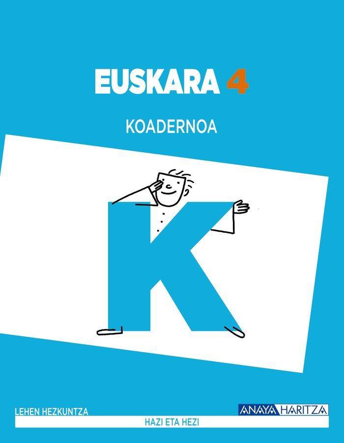 Euskara 4 koadernoa ep euskera