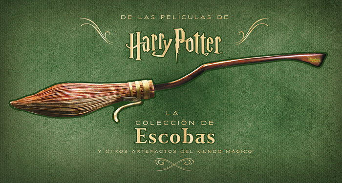 Harry potter la coleccion de escobas y otros artefactos de