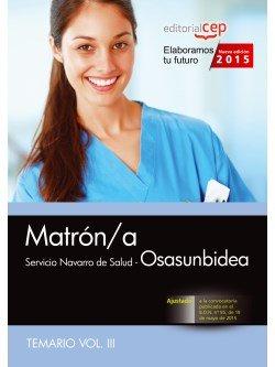 Matron/a. servicio navarro de salud-osasunbidea. temario vol
