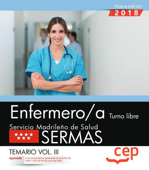 Oposiciones sermas servicio madrid salud enfermero/a vol 3