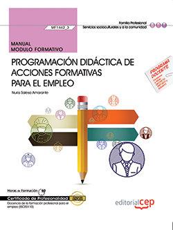 Manual. programacion didactica de acciones formativas para e