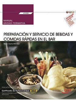 Manual preparacion y servicio bebidas y comidas rapidas