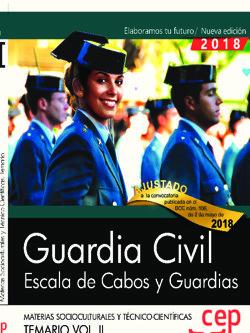 Guardia civil. escala de cabos y guardias. materias sociocul