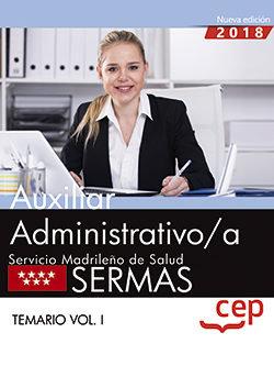 Auxiliar administrativo/a servicio madrileño salud vol 1