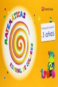 Matematicas 3años carpeta 13 espiral colores