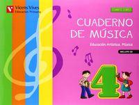 Cuaderno musica 4ºep +cd 13