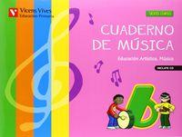 Cuaderno musica 6ºep +cd