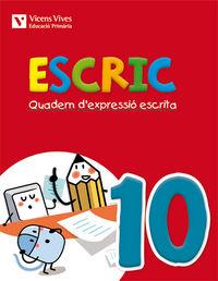 Escric. quadern d'expressio escrita 10