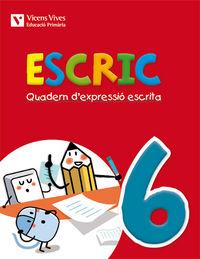 Escric. quadern d'expressio escrita 6