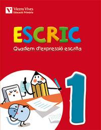 Escric. quadern d'expressio escrita 1